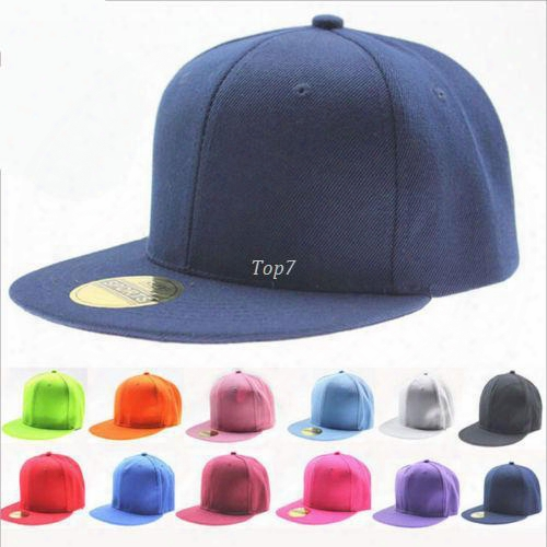 2016 Hot Fashion Blank Plain Snapback Hats Hip-hop Adjustable Baseball Cap