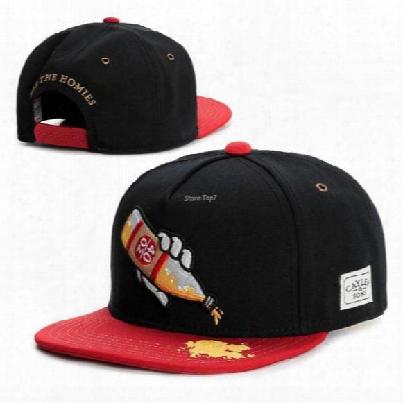 2016 New Black/red 40 Oz Cap Fashion Snapback Caps Baseball Hats Men Brand Women Snap Back Sport Hip Hop Bone Cheap Gorras Men