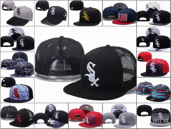 2016 New Men's Chicago White Sox Snapback Hats Sox Letter Embroidery Sports Adjustable Baseball Caps Fashion Reflective Style Hat