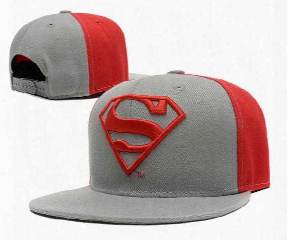 2016 New Style Top Quality Children Boy Superman Cartoon Baseball Caps Hip Hop Punk Caps Snapback Hat Scute Snapbacks For Girls 50-55cm Tx