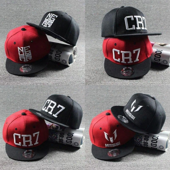 2016 New Summer Children Ronaldo Cr7 Baseball Cap Hat Boys Girls Messi Snapback Hats Kids Sports Neymar Njr Hip Hop Caps