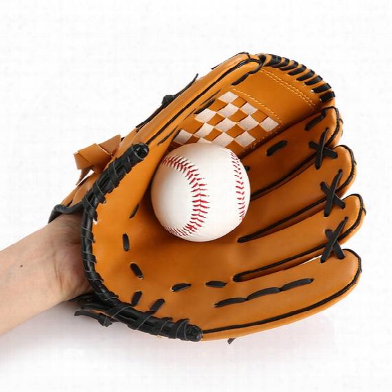 2017 Baseballleather Softball Pvc Junior 10.5 Inch Hand Sport Finger Gloes For Men Sports Outdoors Accs