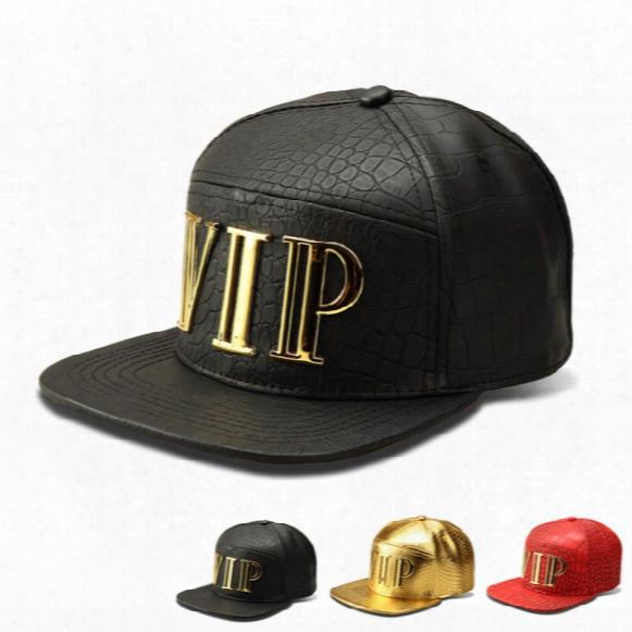 2017 Mens Fashion Hip Hop Fitted Baseball Caps Snapback Pu Leather Men Sport Cap Women Bone Gorras High Quality Golden Vip Hats Adjustable