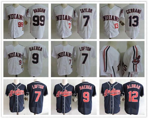 "2017 Mens The ""major League Ii"" Movie Baseball Jersey #99 Rick Vaughn #13 Pedro Cerrano #7 Jake Taylor #24 Dorn Cleveland Indians Jersey"