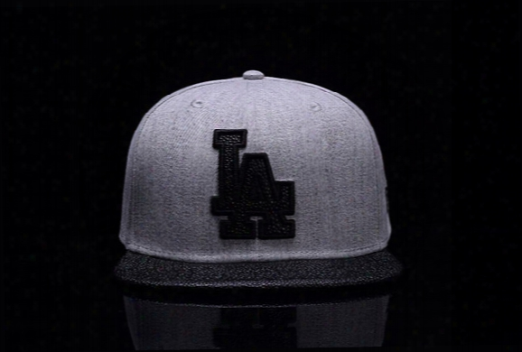 2017 New Men's Los Angeles Dodgers Snapback Hats Gray Color Team Logo Embroidery Sports Adjustable La Baseball Leather Brim Caps