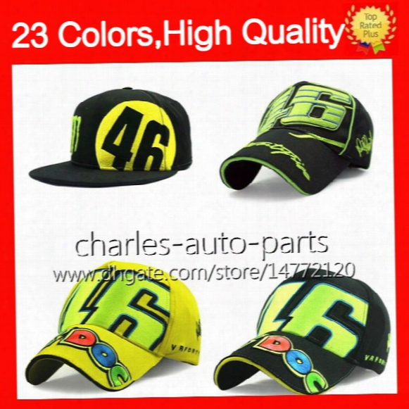 23 Colors Usd9 Rossi Vr 46 Caps Baseball Caps Cap 46# Snapback Bones Masculino Motogp Rossi Vr46 Hat Moto Men Women Children Baseball Hats
