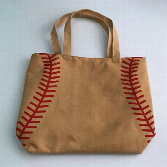4 Colors In Stock Softball Baseball Bag Tote Bagswholesale Blanks Cotton Canvas Softball Tote Bags Baseball Bag Football Bags