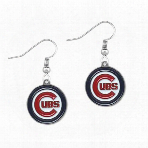5pairs Mlb Chicago Cubs Sports Team Metal Jewelry Pendant Earrings For Women Jewelry Oil Earrings Gift Baseball
