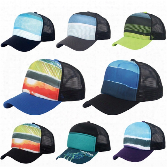 8 Color Unisex Cheap Sublimated Printed Stylish Baseball Caps Trucker Mesh Cardinal's Office Adjustable Snap Back Hat Ball Cap For Sale