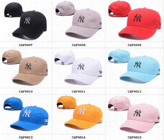 9 Model Ny Men Women Mlb Baseball Cap Snapback Hip Hop Adjustable Top Casquette Hat Sport Dad Hats Topi High-quality Unisex Yankees Caps