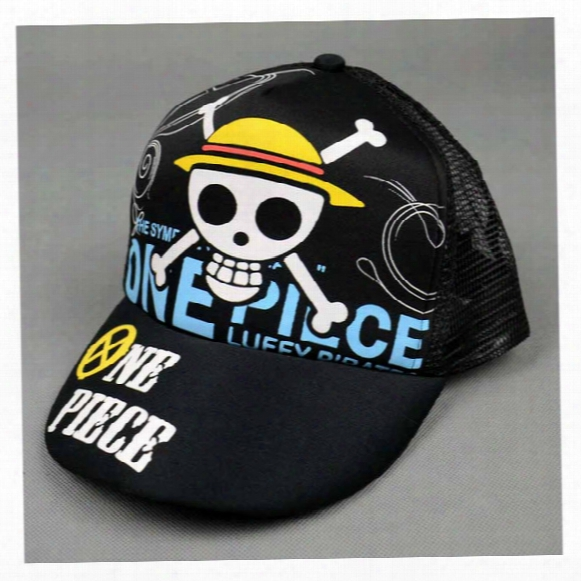 Anime Naruto Baseball Hats One Piece Cartoon Printing Sun Caps Unisex Hip Hop Net Hats Comic Summer Wear