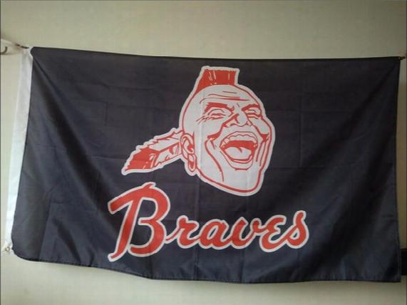 Atlanta Braves Flag 90 X 150 Cm Polyester Mlb Baseball Stars And Stripes Banner