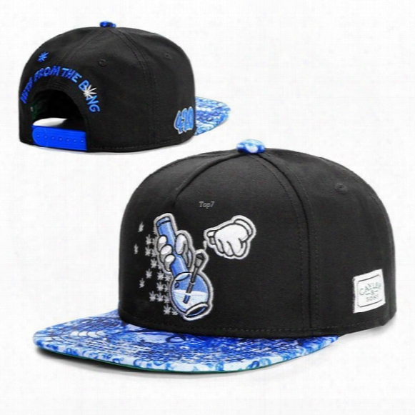 Black/blue Bubble Bongs Cap Fashion Snapback Caps Baseball Hats For Men/women Sports Hip Hop Brand Sun Hat Bone Gorras Casquette