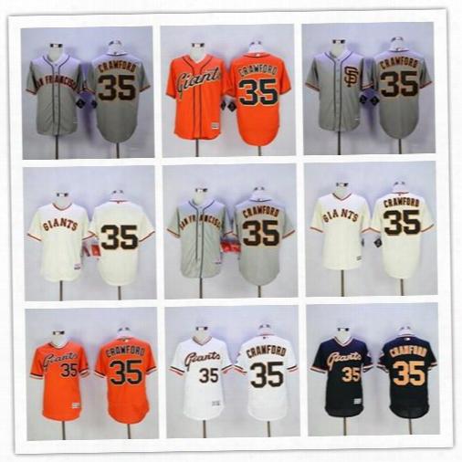 Brandon Crawford Jersey Cooperstown Cool Base Flexbase Vintage San Francisco Sf Giants Baseball Pullover White Grey Orange Cream Black