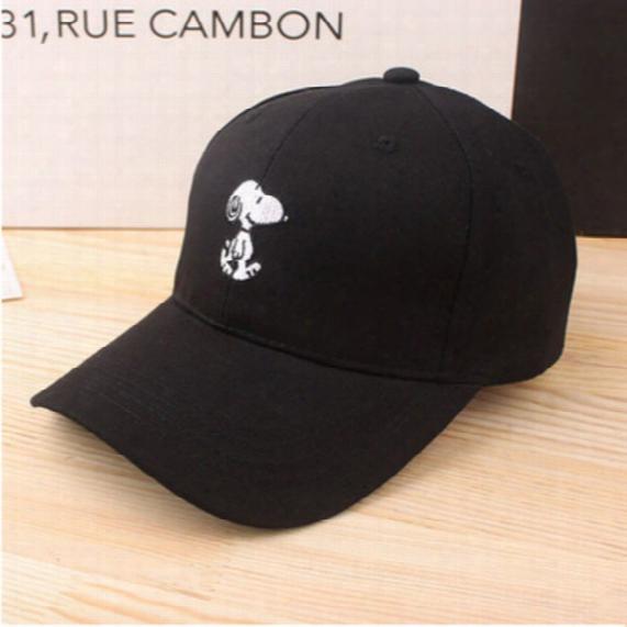 Cartoon Cute Dog Embroidery Baseball Cap Hip Hop Women Men Brand Summer Snapback Fishing Cap Dad Hat Bone Sport Casquette Gorras