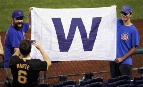 "Chicago Cubs ""w"" Mlb Banner Flag 3' X 5' Win Fan Baseball Team Decor"