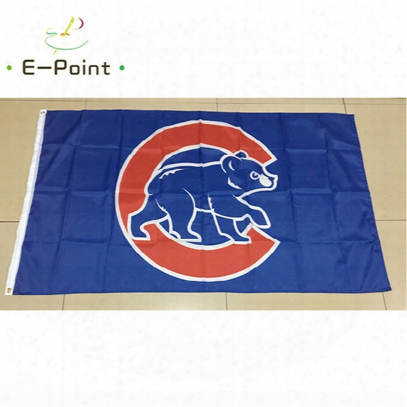 Chicago Cubs Major League Baseball (mlb) 3*5ft (90cm*150cm) Polyester Flag Banner American Decoration Flying Home & Garden Flag
