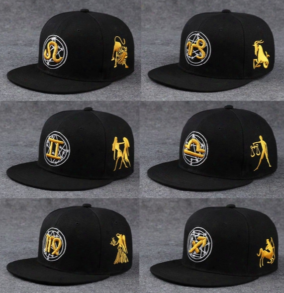Christmas Gift Zodiac Snapback Fashion Baseball Caps Boys Girls Winter Hats For Men Ball Caps Beanies