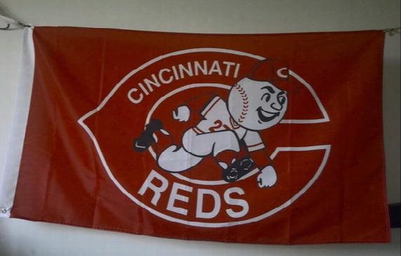 Cincinnati Reds Flag 90 X 150 Cm Polyester Mlb Baseball Stars An D Stripes Banner