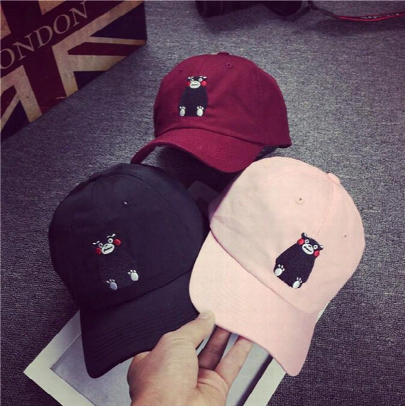 Embroidery Letters Benn Brimmed Hats Curved Baseball Cap Hat Korean Version Of Hip-hop Cartoon Lovers Summer Influx Of Men And Women