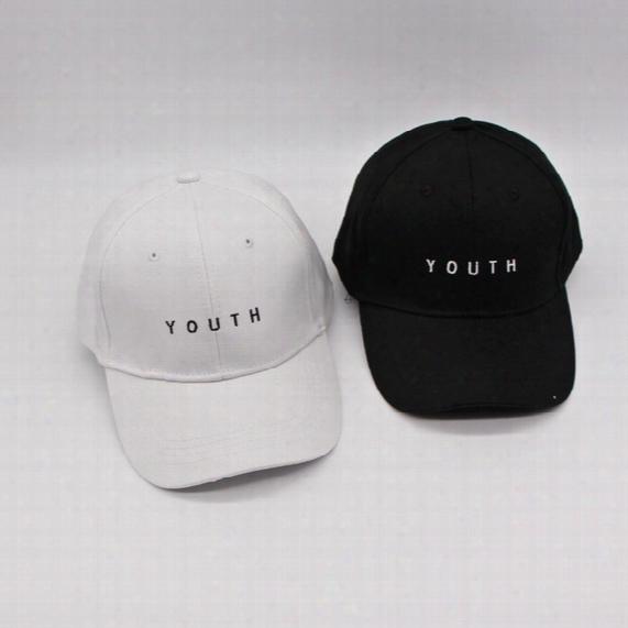 Fashion Cap Women Men Summer Spring Cotton Caps Women Youth Letter Solid Adult Baseball Cap Black White Hat Snapback Women Cap