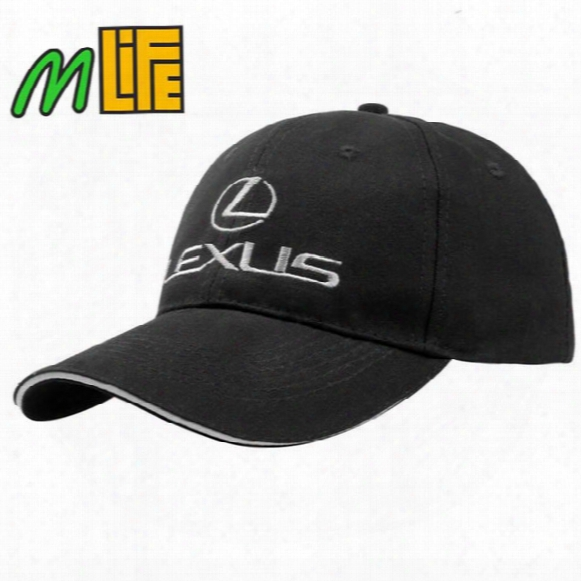 For Lexus Outdoor Men F1 Racing Cap Cotton Male Lexus Sports Motorcycle Racing Baseball Caps Car Sun Hats Black/white/blue