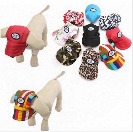 Free Shipping !!! Canvas Summer Small Pet Dog Cat Baseball Visor Strap Hat Puppy Cap Sunbonnet Your Best Choice