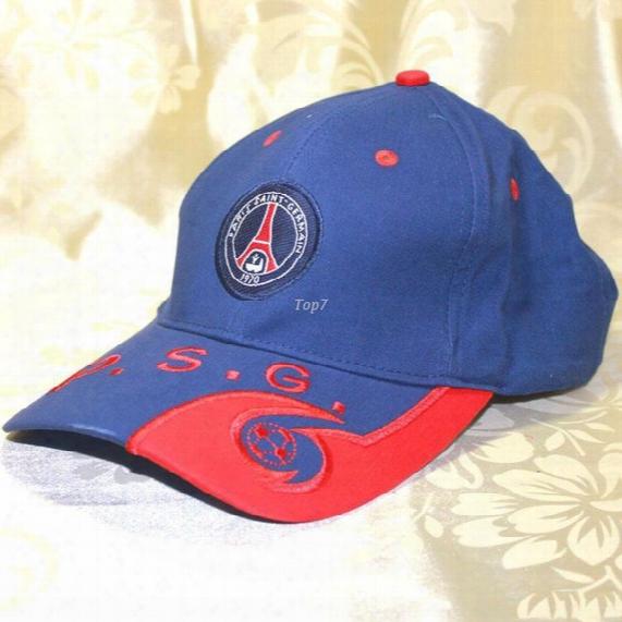 Free Shipping Soccer Club Paris Psg Logo Baseball Hat Cap Sports Outdoor Embroidery Badge Football Sunhat Snapback Hip-hop Caps