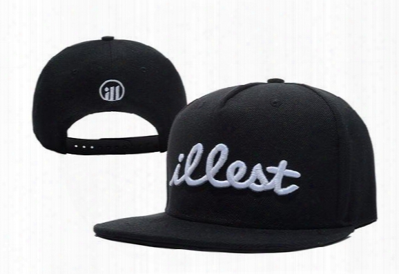 Illest Og Logo Snapback, Classic Men's And Women Adjustable Baseball Caps , Wholesale Embroidery Fitted Flat Hats Black Red Blue!