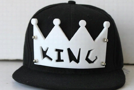 King Crown Cap Men Snapback Baseball Hats Women Adjustable King Hat Punk Style Unisex Hiphop Hats Acrylic Crown Headwear Christmas Gift