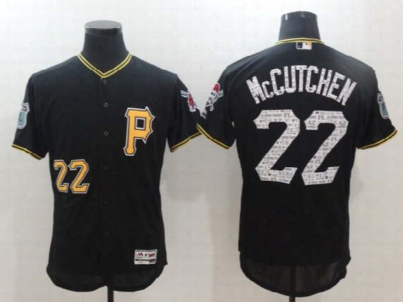Men Pittsburgh Pirates Jersey 2017 Spring Training 22 Andrew Mccutchen In Stock Flex Base On-field Baseball Team Jerseys