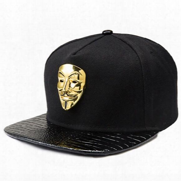 Mens Fashion Fitted Baseball Cap Snapback Plain Baseball Hats For Men Women Hip Hop Caps V For Vendetta Gorras