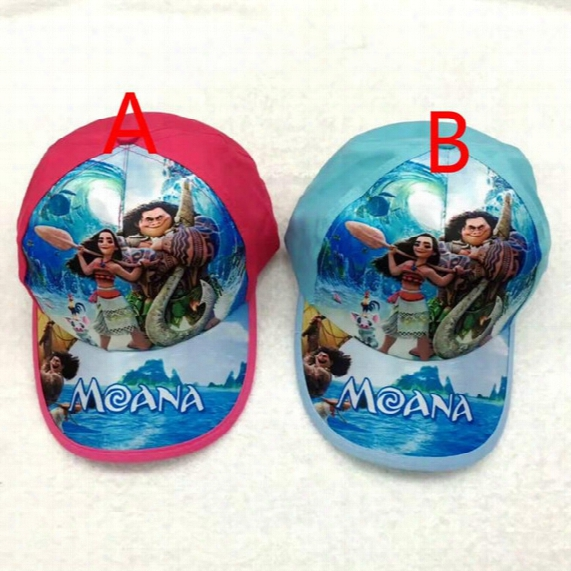 Moana Cap Cartoon Children Baseball Hat Adjustable Peaked Cap 52-54cm 3 Colors Shipping Dhl 009#