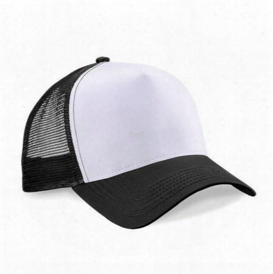 New Arrival Hot Unisex Hat Men Women Boys Girls Adjustable Hats Solid Colors Black White Baseball Cap Hat Mesh Trucker Hat