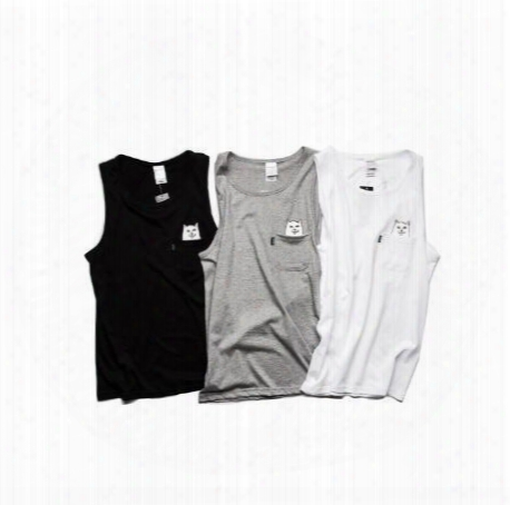 New Arrival Summer Style Casual Ripndip Tank Tops Men Women High Quality Cotton Baseball Skateboards Solid Tank Top Fitness Vest
