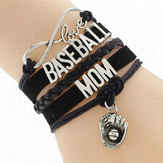 New Arrivial Infinity Love Baseball Mom Team Sports Bracelet Customize Wristband Friendship Bracelets Drop Shipping Pioneer
