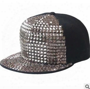 New Design Adjustable Snapback Hats Caps With Rivet Baseball Cap Hat Punk Rock Hip Hop Snapback Hats Caps Cap Hat 11colours