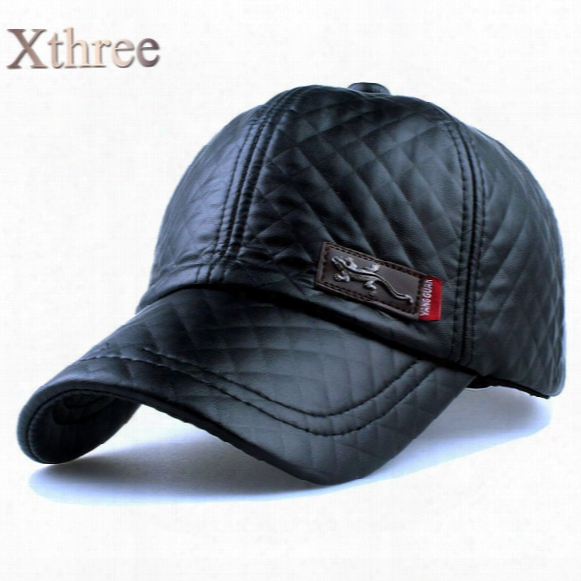 New Fashion High Quality Faux Leather Cap Fall Winter Hat Casual Snapback Baseball Cp For Men Women Hat Wholesale