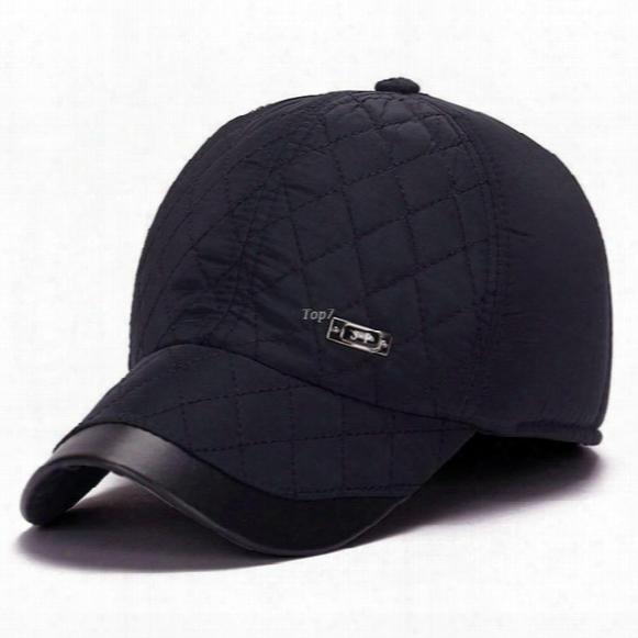 New Winter Baseball Cap Mens Winter Hats Ear Flaps Famous Brand Zhenyueqi Strong Heat Windbreak For Adult Size 56-59cm