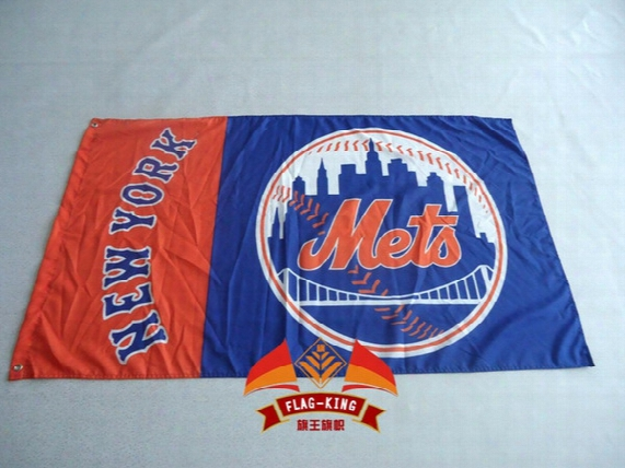New York Mets Mlb Major League Baseball Flag Hot Sell Goods 3x5ft 150x90cm Banner Brass Metal Holes