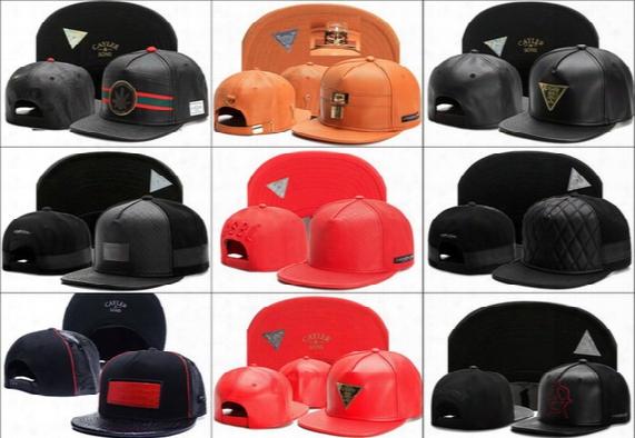Newest Adjustable Cayler & Son Snapback Hats Winter Leather Baseball Caps Fashion 5 Panels Headawear Cheap Visor For Men Women