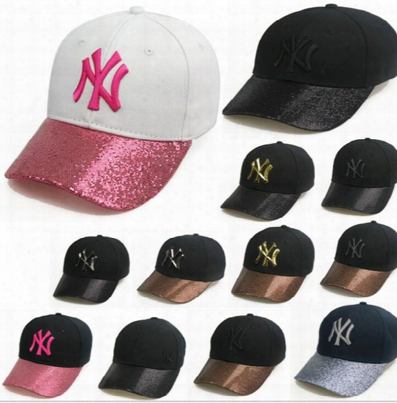Ny Men Women Mlb Baseball Cap Snapback Hip Hop Adjustable Top Hat Sport Dad Sequins Hats Summer Baseball Cap Kka1966