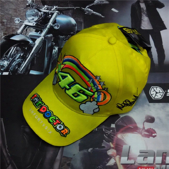 Rossi 46 Embroidered Kids Rainbow Baseball Cap F1 Hat Vr46 Motorcycle Racing Cap Children Baseball Hat Adjustable Bones