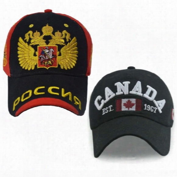 Russia Canada England Baseball Cap Dad Hat For Men Women Snapback Bone Snap Back