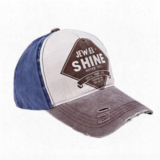 S5q Men Women Ivntage Peaked Baseba Ll Cap Letters Printed Adjustable Denim Hat Aaafze