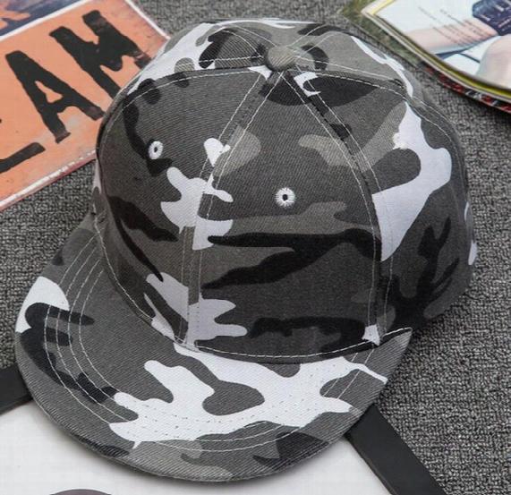 Snapback 2016 Outdoor Camouflage Military Training Cap Lady Light Board Street Hip-hop Hat Baseball Hat