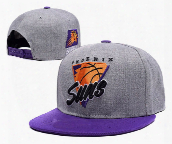 Suns League Basketball Team Flat Snapback Embroidery Baseball Caps Mens Hats Gorras Planas Snapback Hats Suns Cap