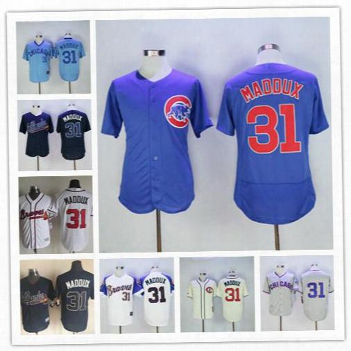 Throwback Chicago Cubs Jerseys 31 Greg Maddux Team Royal Blue Grey 1968 Vintage Cream Pullover Greg Maddux Authentic Baseball Jersey Hirts