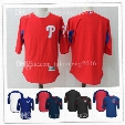 100% Stitched Philadelphia Phillies 7 Maikel Franco Player Batting Practice Baseball Jerseys MLB Majestic Royal/Navy On-Field Sleeve Jersey