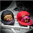 Children's cartoon baseball cap hip-hop fashion personality Teddy Bear glasses flat brimmed bonnet for men and women
